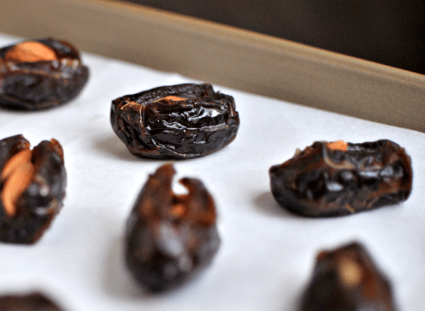 Almond-Stuffed Dates with Bourbon Bacon Jam   the pig and quill