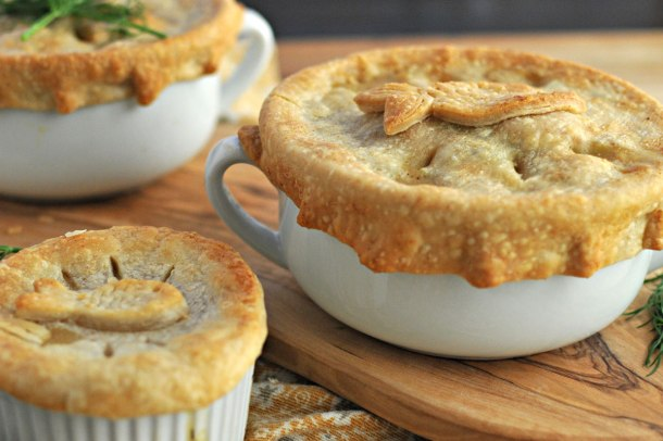 Dilled Salmon & White Bean Pot Pies | the pig & quill