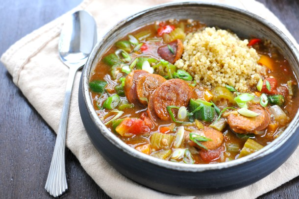 Coconut Curried Sausage & Veggie Gumbo (gluten-free) | the pig & quill