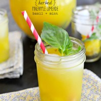 Fizzy Herbed Pineapple Limeade + TWO $50 iHerb.com Giveaways - #SoLetsPigOut