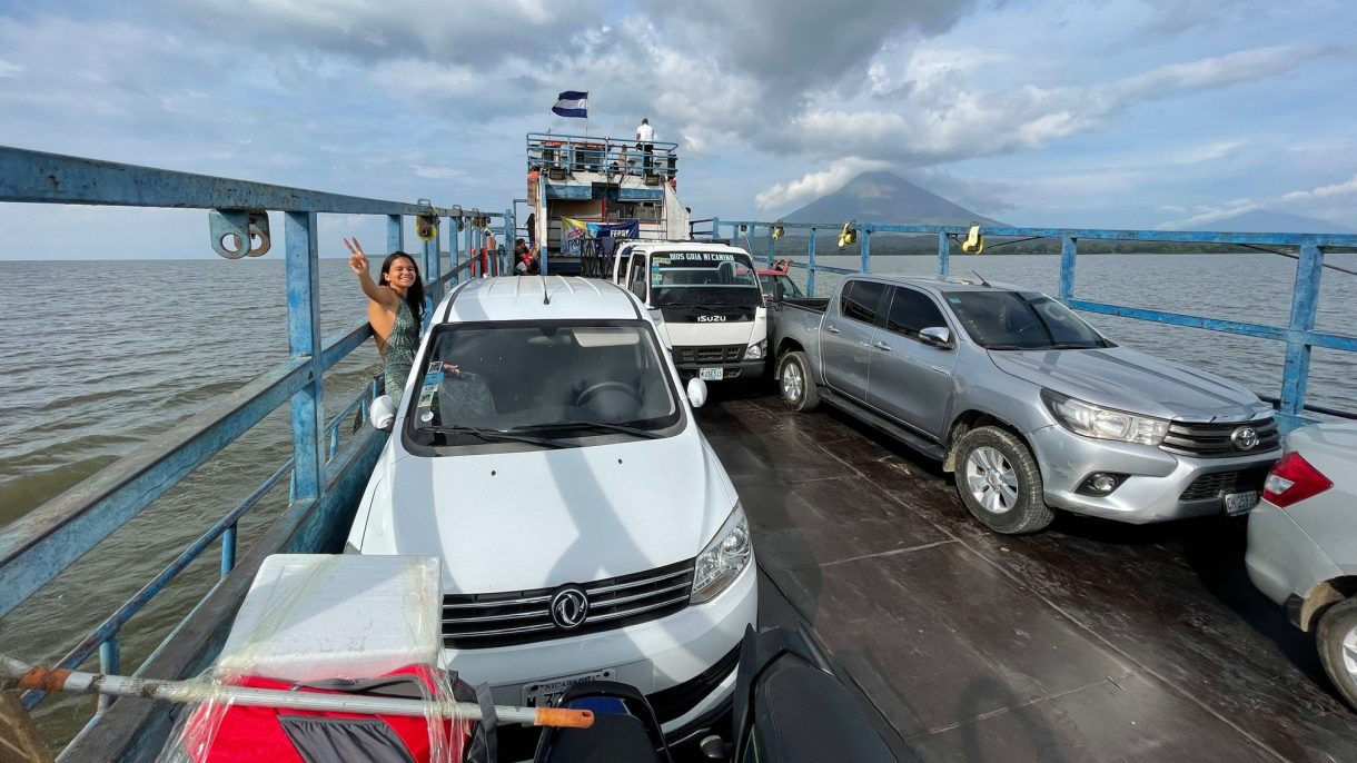 It takes about 60-70 minutes to cross fron San Jorge, Rivas to Moyogalpa, Omepete island in Nicaragua.