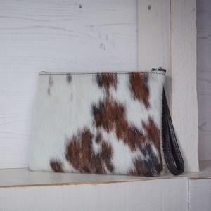 Minnie Clutch Bag Leather Tri Colour