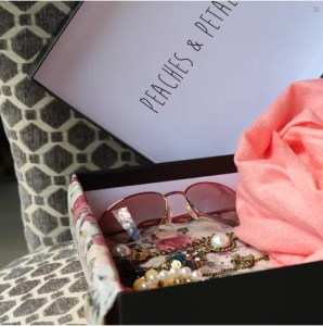 Peaches and Petals subscription box