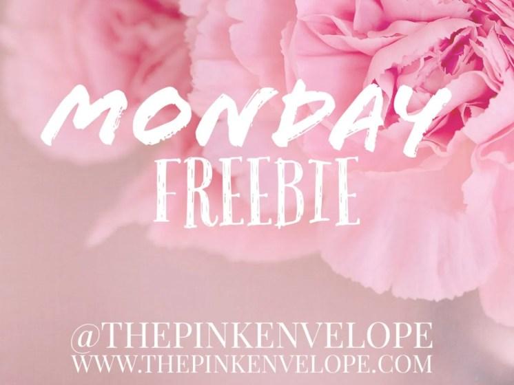 Monday Freebie