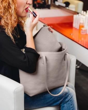 Stone Grey Weekender Tote Klutch Handbags
