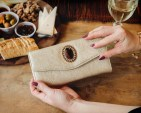 matte gold wallet by Klutch Handbags