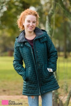 Andrew Marc Savana Quilted Puffer Coat in Green