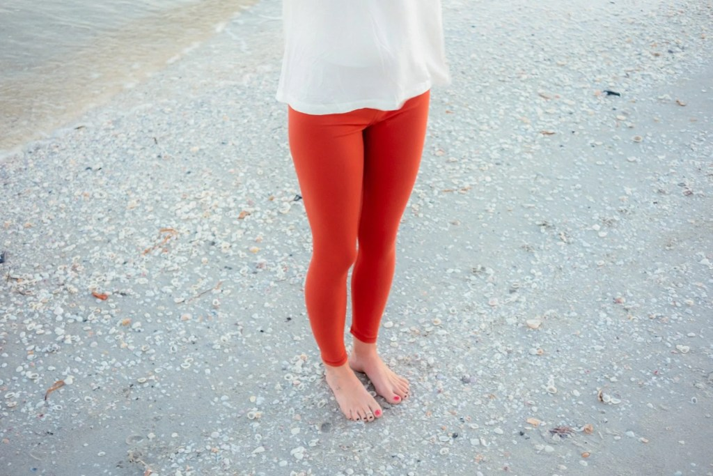 Orange Yoga Pants