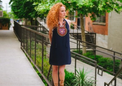 THML Roonie Embroidered Dress