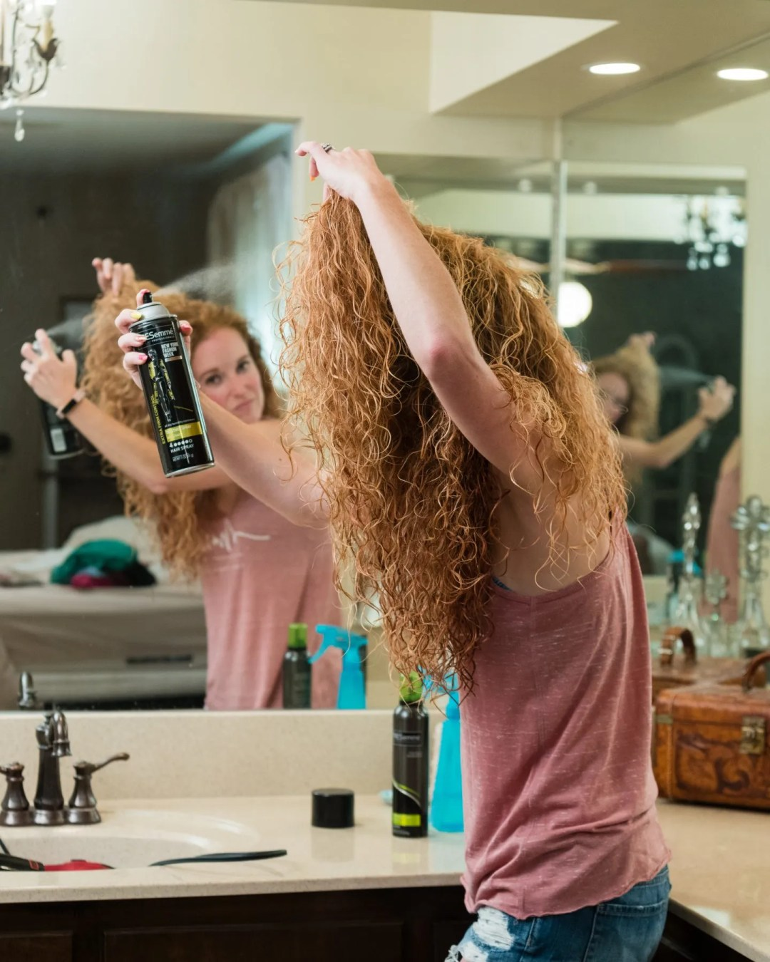 Tresemme Hairspray for curly hair