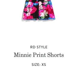Minnie Print Short