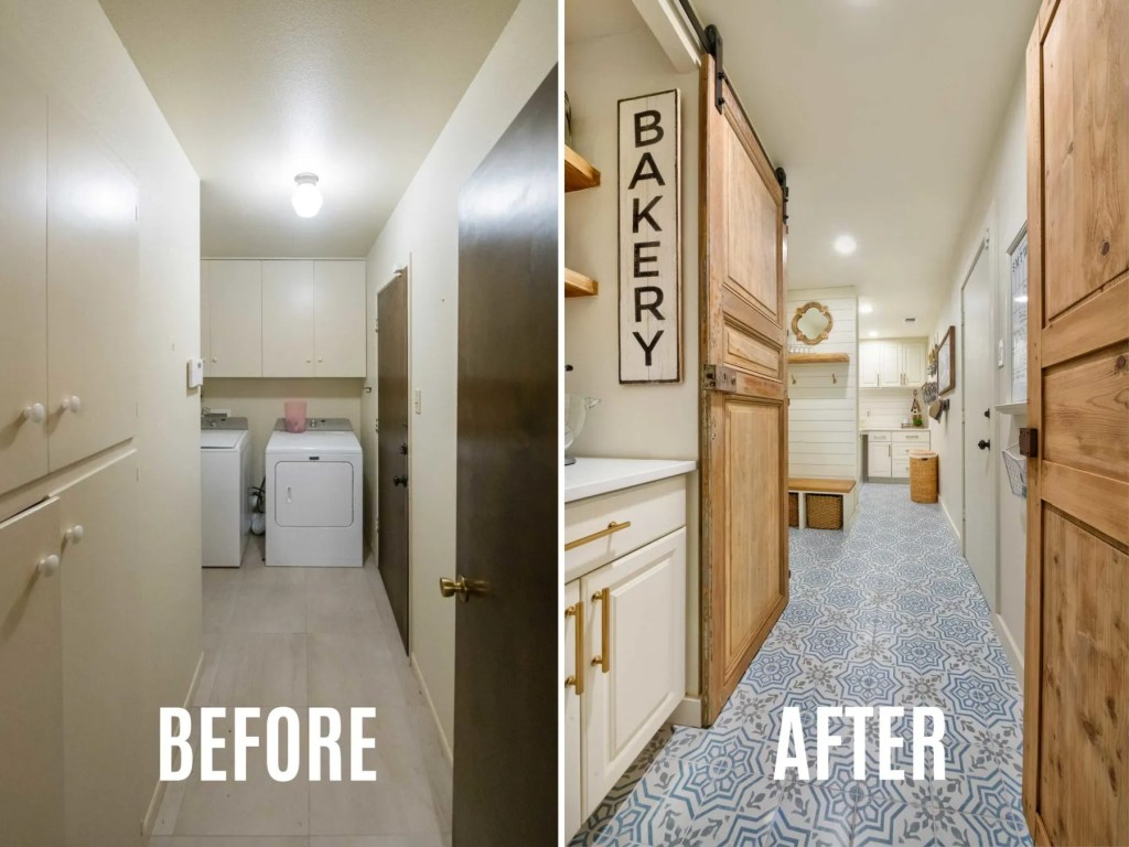 DIY Laundry Room Makeover Remodel