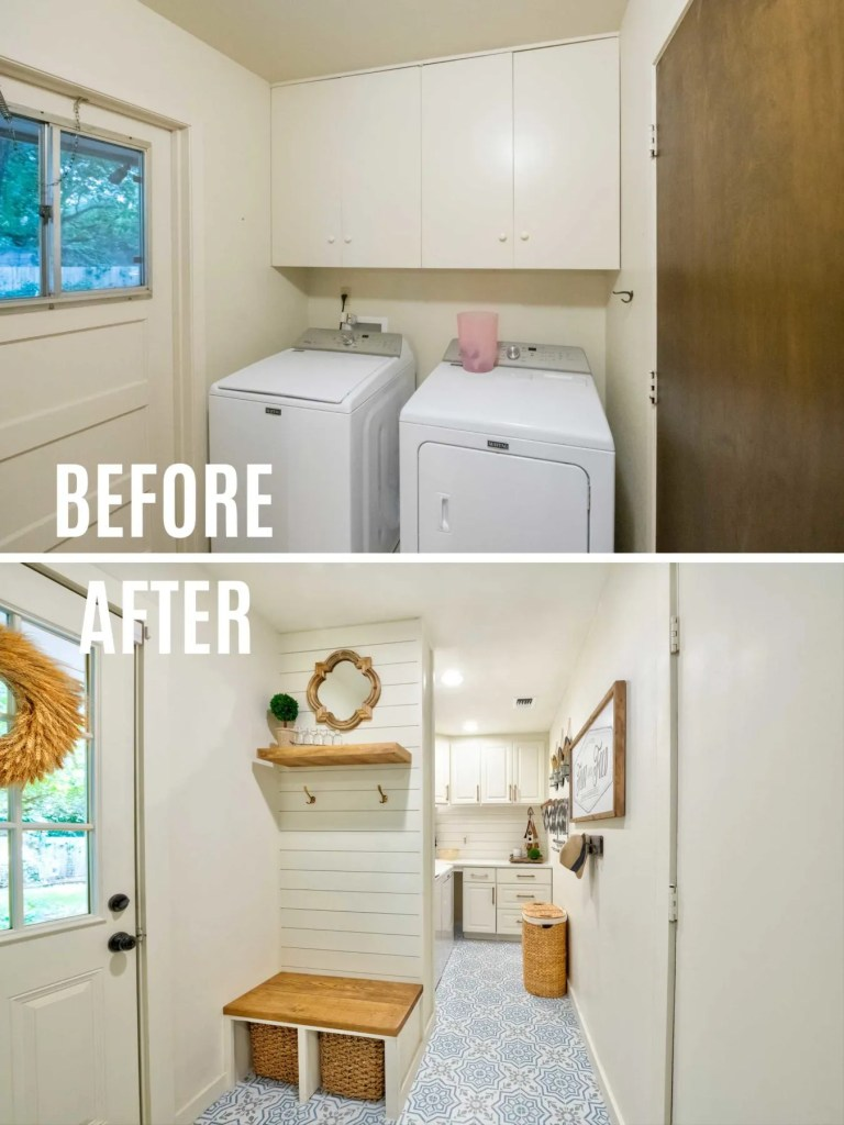Laundry Room Makeover Remodel