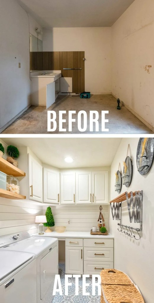 Laundry Room Makeover Remodel Before and After Photos