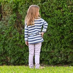 Warp + Weft Lily Skinny Jean in Lavender