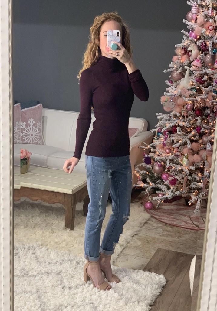 Velvet Heart Distressed Studded Jeans