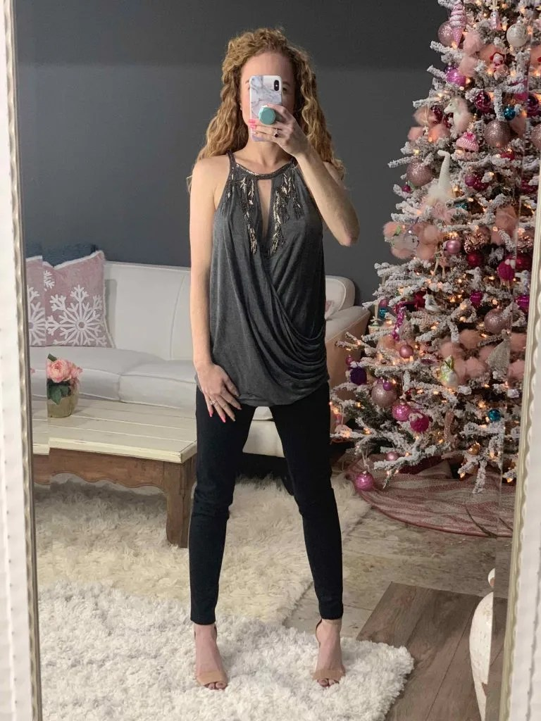 Hippie H Keyhole Ruched Top