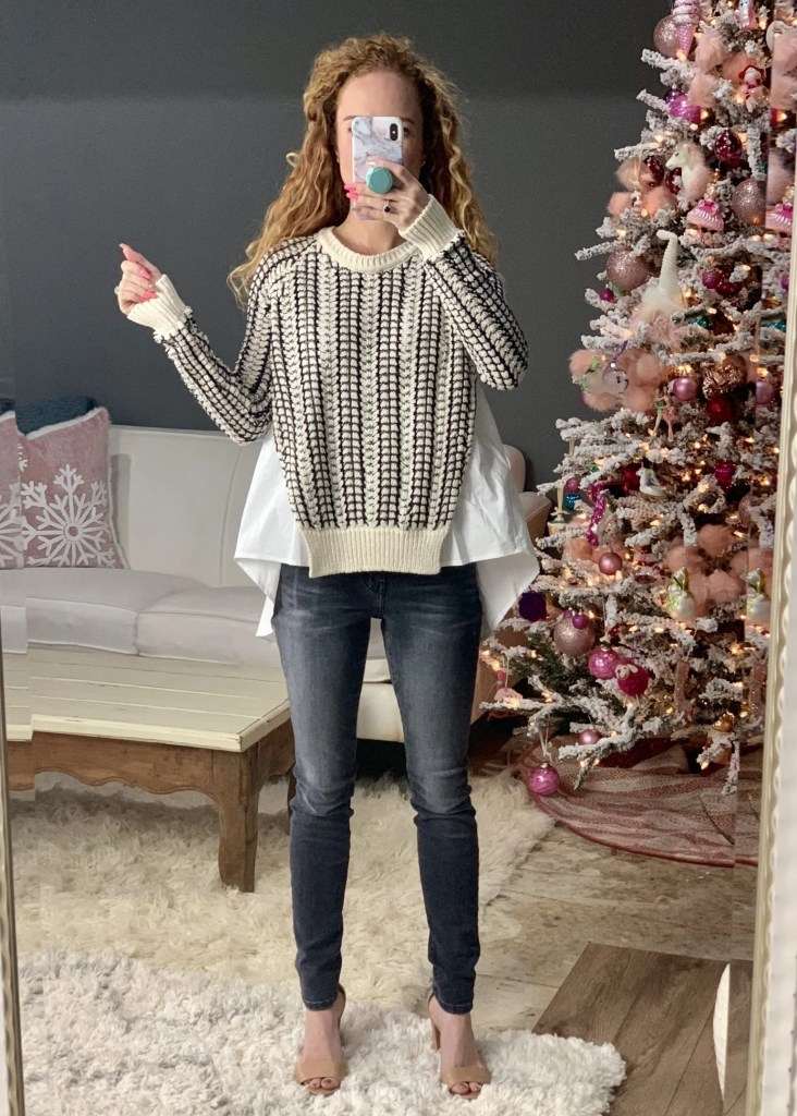 Rachel Roy Textured Knitted Sweater