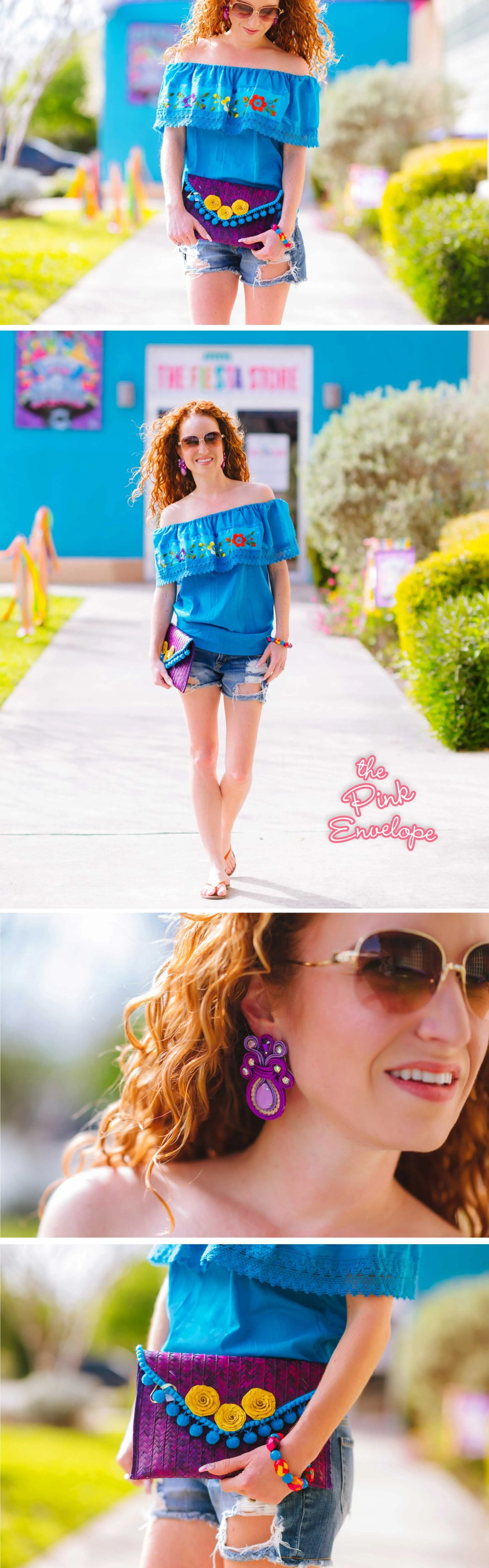 Blue Fiesta Outfit Ideas for San Antonio Fiest Fashion Haul - My Outfit Picks - The Pink Envelope #fiesta #fashion
