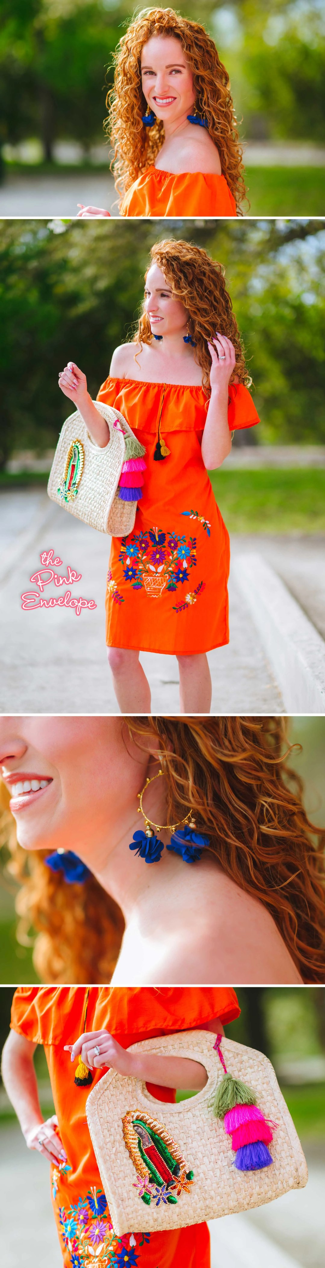 Orange Floral Fiesta Outfit Ideas for San Antonio Fiest Fashion Haul - My Outfit Picks - The Pink Envelope #fiesta #fashion