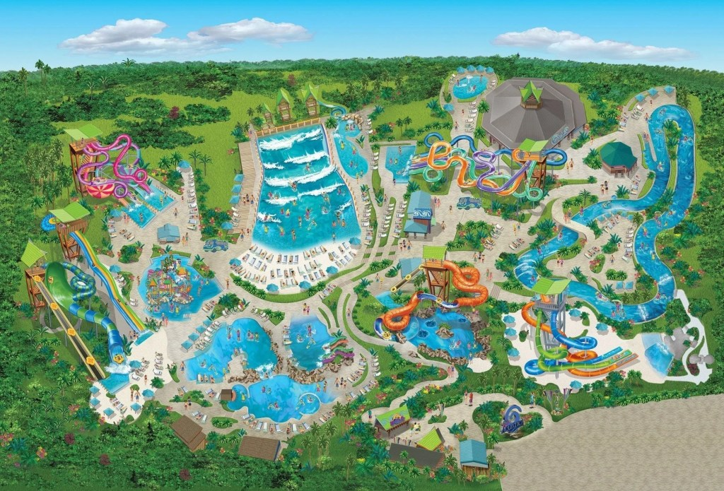 Aquatica Texas Map
