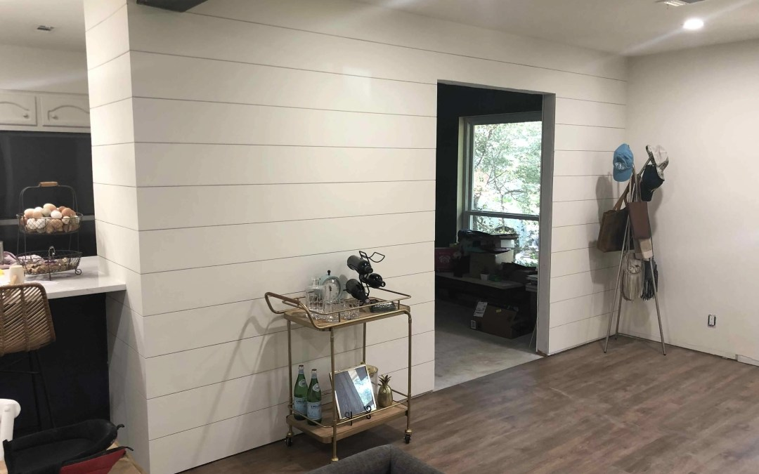 DIY Shiplap Wall Hack