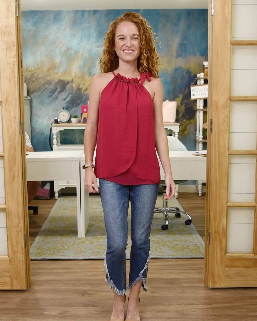Goldray - Odelya Tulip detail blouse - Magenta - Size extra small - $58