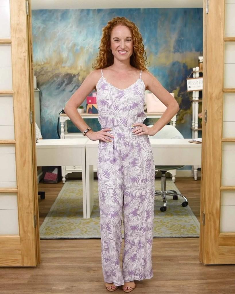 Skies are Blue - Danica crochet trim jumpsuit - Light Purple - Size Small - $74