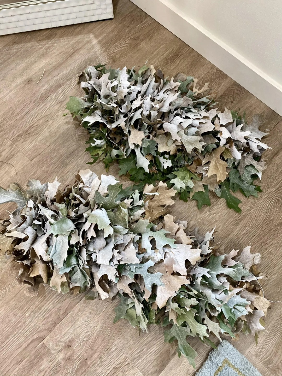 snow covered garland