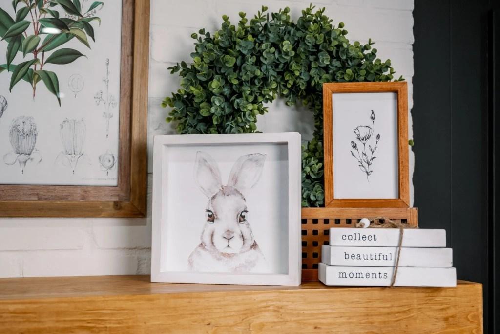 White Bunny in White Frame