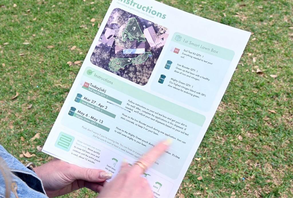 Sunday Lawn Instructions