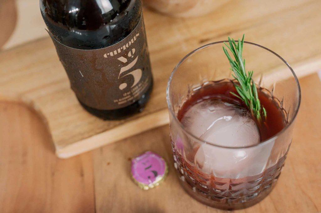 non alcoholic old fashioned cocktail