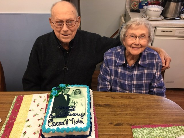 Celebrating 65 years of marriage together.