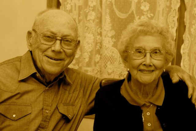 Photo from their 60th wedding anniversary.