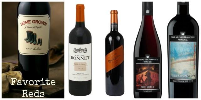 Favorite Red Wines