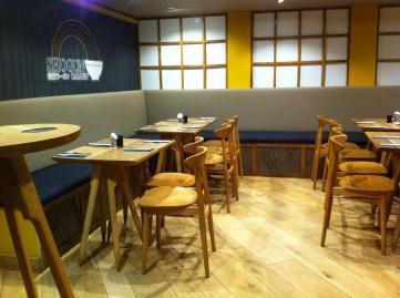 downstairs at shogun ramen restaurant in brighton