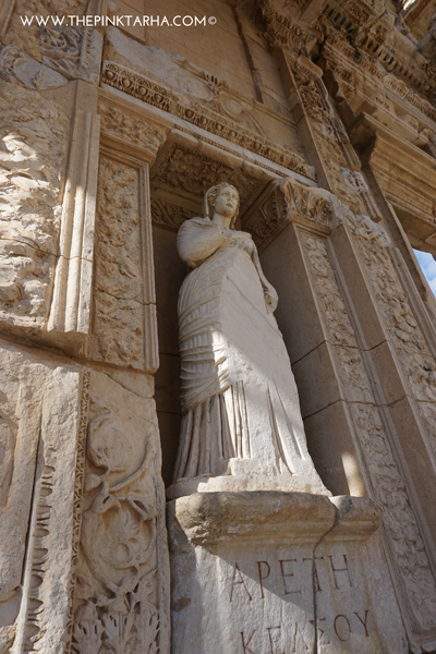Arete, (personification of virtue) in the Celsus Library.