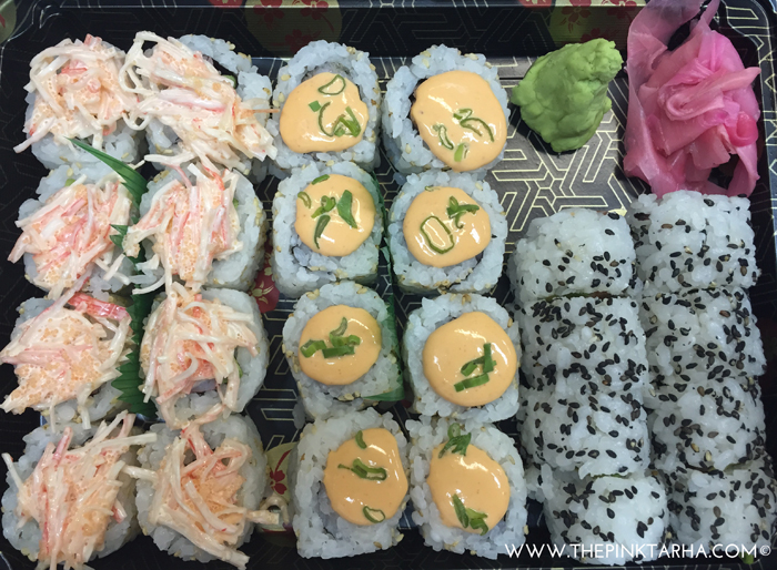 All mine!!! LOL! {Crazy California Roll, Spicy Temoura Roll, and Cream Cheese Salmon Roll}