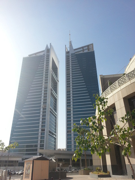 The twin Olaya Towers dominating the Olaya skyline