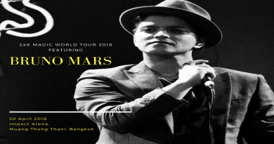 Grammy Award Winning Singer Bruno Mars To Return To Bangkok After Songkran