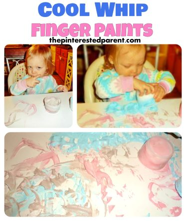 Cool Whip Finger Paints - edible paints & messy fun for toddlers