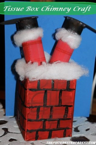 Tissue Box Santa stuck In the chimney Christmas Crafts for kids