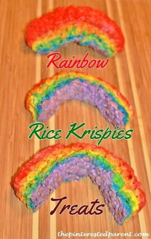 Rainbow rice krispies treat