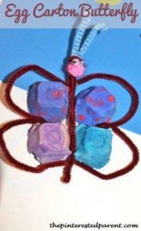 Egg Carton Butterfly