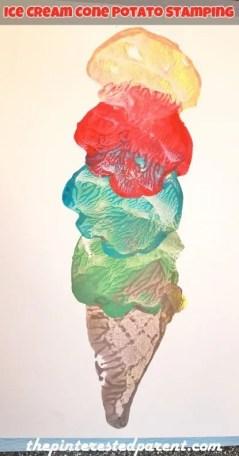 Ice Cream Cone Potato Stamping