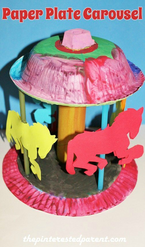 paper plate carousel � the pinterested parent