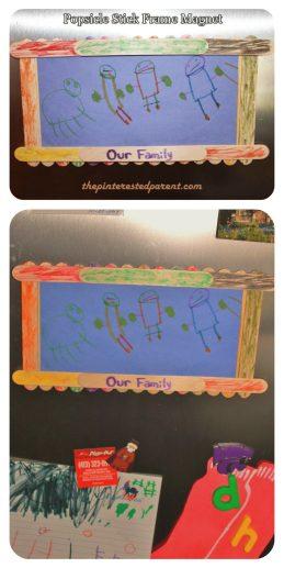Popsicle Stick Refrigerator Magnet Frame