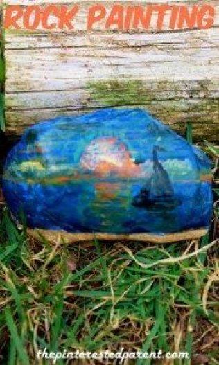 Landscape Rock Painting