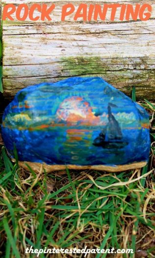 Landscape Rock Painting