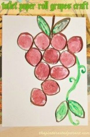 Toilet Paper Roll Grapes Craft